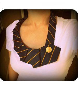 Colar de gravata passo a passo como fazer