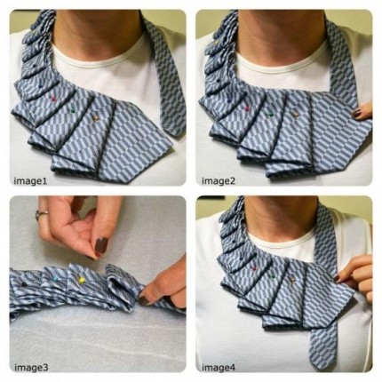 artesanato com gravata